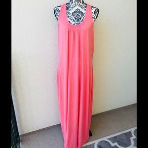 ⭐️ Lord&taylor pink summer maxi dress long NWT 2X